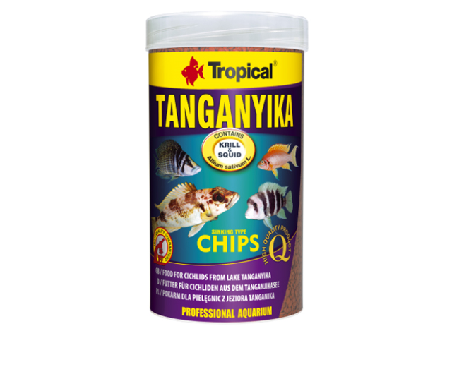 "Корм для рыб ""Tropical"" PR Tanganyika chips 1000мл/520г, чипсы д/цихлид озера Танганьика"