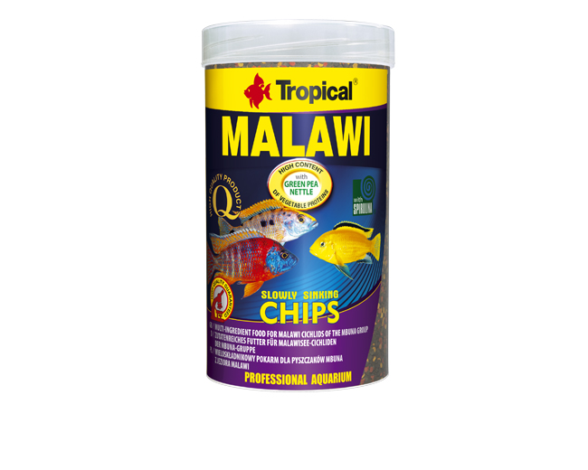 "Корм для рыб ""Tropical"" PR Malawi chips  250мл/130г, чипсы д/цихл озера Малави и других трав. цихлид"