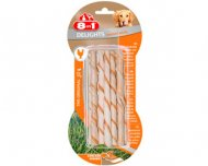 8in1 Delights Twisted Sticks (10 шт.) плетеные палочки, лакомство для собак