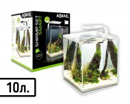 "Аквариум AQUA EL ""SHRIMP SET SMART LED PLANT"" 10 / БЕЛЫЙ (10 л)"